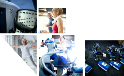 collage of happy people working out on Vasper